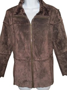 Westbound Suede Shearling Leather Jacket Shearling Petite M Fur Coat