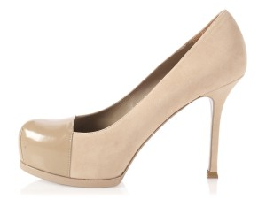 Saint Laurent Ys.l0801.10 Hidden Platform Tan Tribtoo Ysl Beige Pumps