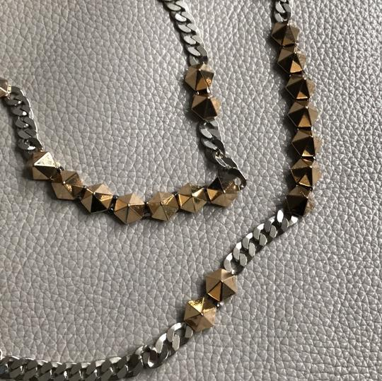 A|X Armani Exchange Trendy studded necklace chain gold silver