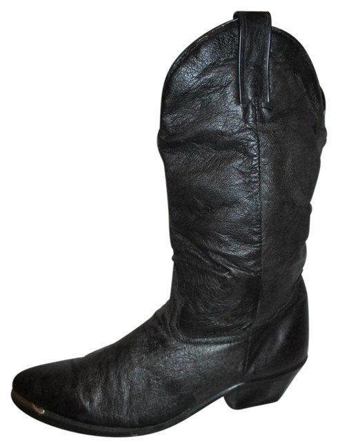 Item - Black Leather Western Boots/Booties Size US 7.5 Regular (M, B)