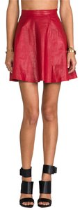 Lovers + Friends Mini Skirt Red Leather