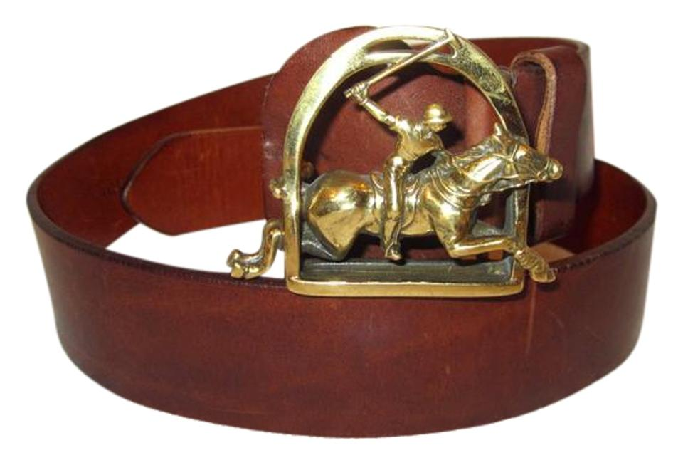 Polo Ralph Lauren Brown Collectible Vintage Leather Player Horse