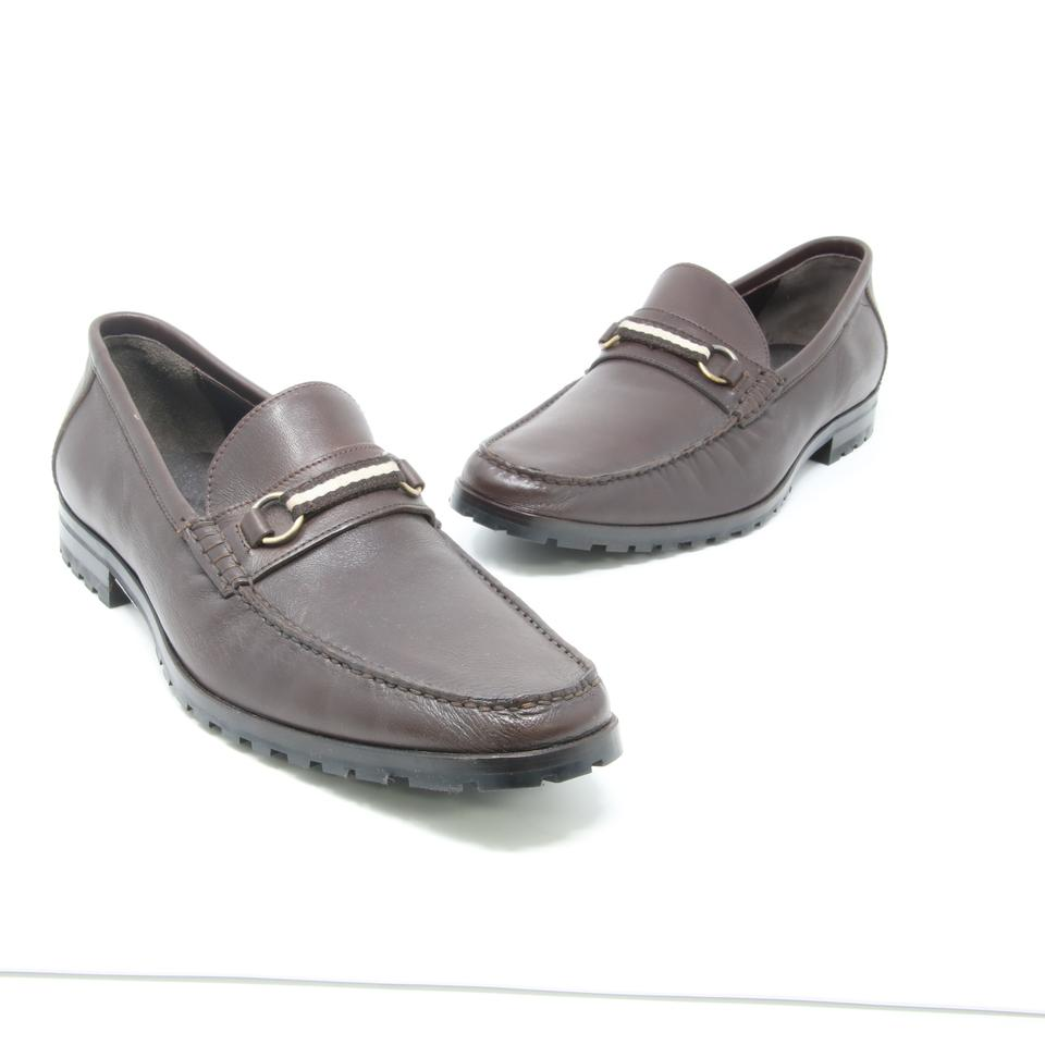 0a7275b32657a Bally Dark Brown Signature Men's Leather Moccasin Mismatch Loafers 9.5-8.5  Formal Shoes Size US 8.5 Regular (M, B) 49% off retail