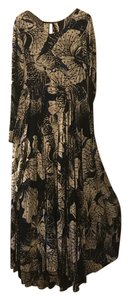 Black Blue Floral Maxi Dress by Free People