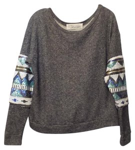 Vintage Havana New Sequin Knit Oversized Sweater