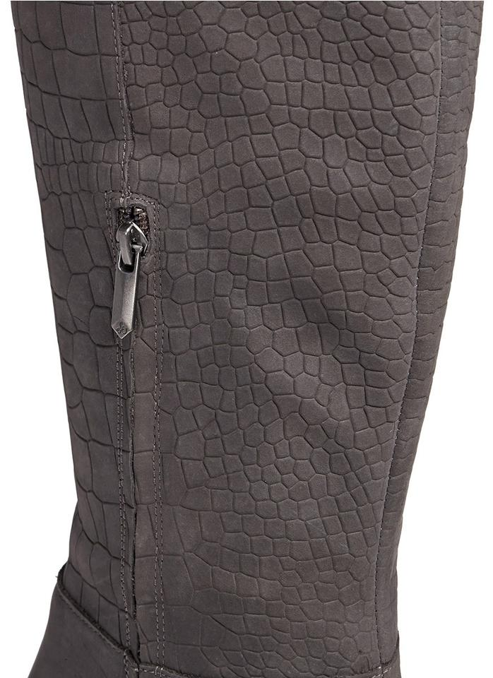e9a3fe9bbb09a Sam Edelman Suede Leather Croc Embossed Grey Boots Image 7. 12345678