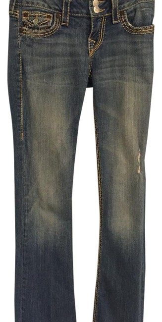 Item - Distressed Boot Cut Jeans Size 25 (2, XS)