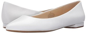 Nine West Leather Ballet Pointed Toe White Flats