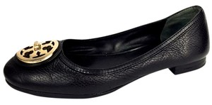 Tory Burch Logo Classic Business Emblem Comfortable Black Flats