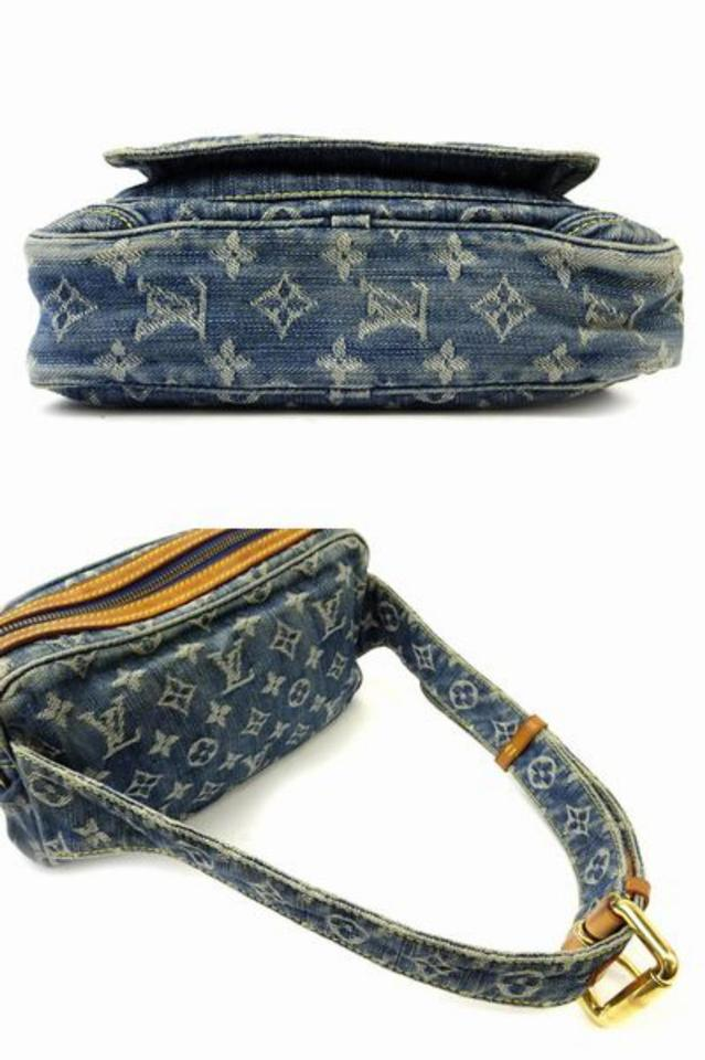 46b4ecbed31 Louis Vuitton Bum ( Ultra Rare ) Fanny Pack Waist 222196 Blue Denim Cross  Body Bag