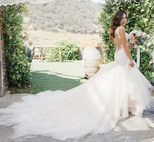 Preload https://img-static.tradesy.com/item/22076886/white-light-ivory-lace-sparkle-tulle-sheer-net-low-back-mermaid-layers-super-long-train-sexy-wedding-0-3-540-540.jpg