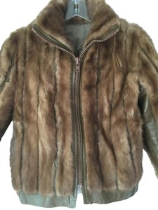 Other Genuine Mink Soft Leather Two Lovely Lining Brown Jacket