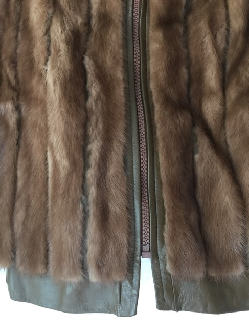 Other Genuine Mink Soft Leather Two Lovely Brown Jacket