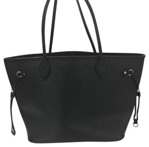 Louis Vuitton Neverfull Epi Leather Tote in Black