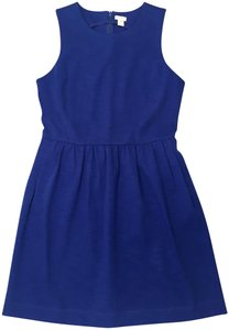 J.Crew short dress Royal Blue A-line Pleated Dinner Date Comfortable on Tradesy
