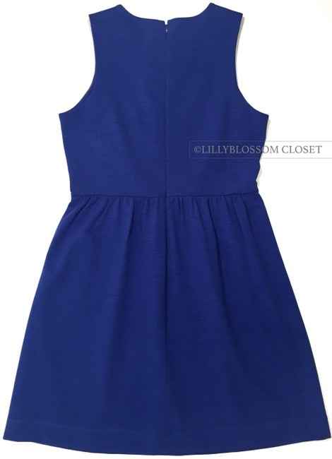 J.Crew short dress Royal Blue A-line Pleated Dinner Date Comfortable on Tradesy Image 3