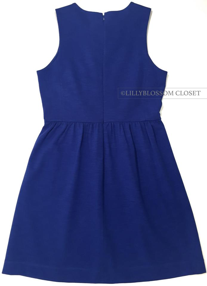 2cbebd18f0cee J.Crew Royal Blue Sleeveless Cotton A-line Short Casual Dress. Size  8 ...