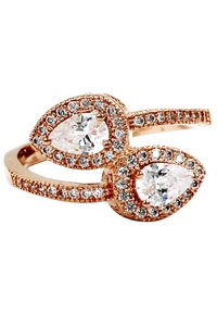 Ocean Fashion Dislocation relative crystal rose gold ring