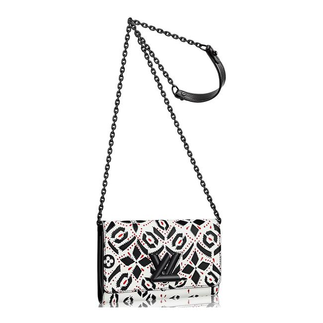 Item - Wallet on Chain Twist Limited Edition Lv Lock Black White Graphite Print Multicolor Cowhide Leather Cross Body Bag