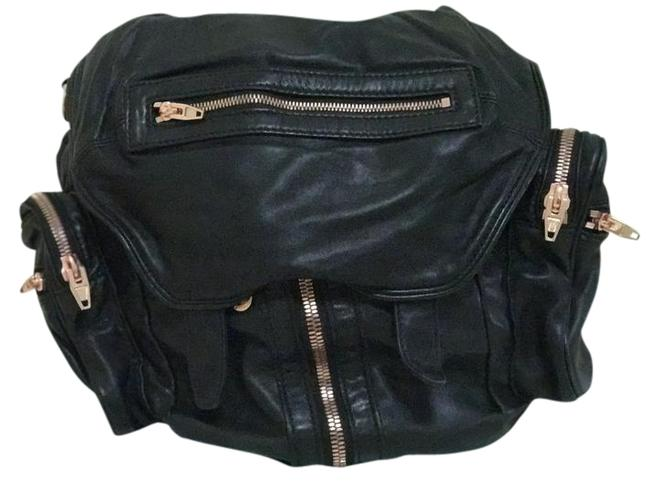 Item - Marti In Washed with Rose Gold Black Lambskin Backpack