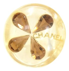 Chanel Chanel Yellow Clover Motif Clear Ring CF423