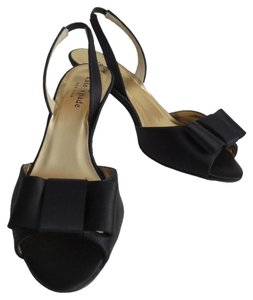 Kate Spade Emelia Satin Size 6 Black Sandals