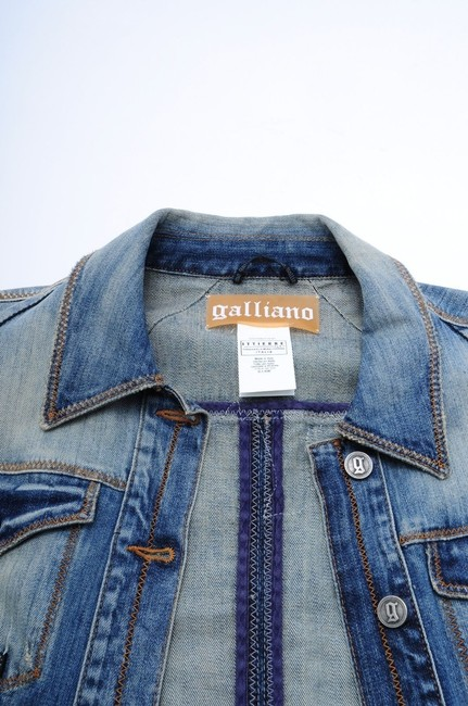 John Galliano Embroidered Jean Rare Womens Jean Jacket