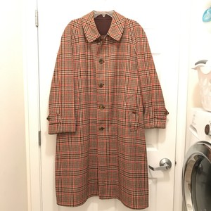 Burberry Men's Vintage Wool Overcoat Men's 48 Short Trench Coat