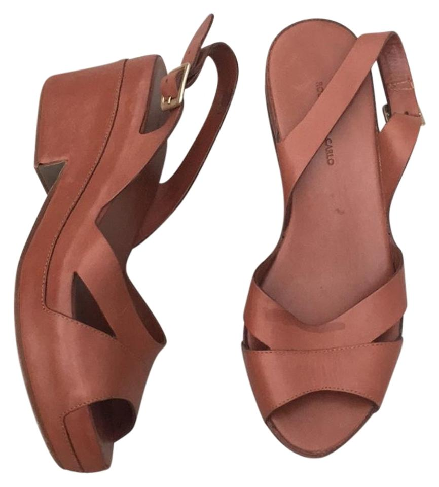 6fef9dd109191b Roberto Del Carlo Tan Brown Leather Sandals Size US 6 Regular (M