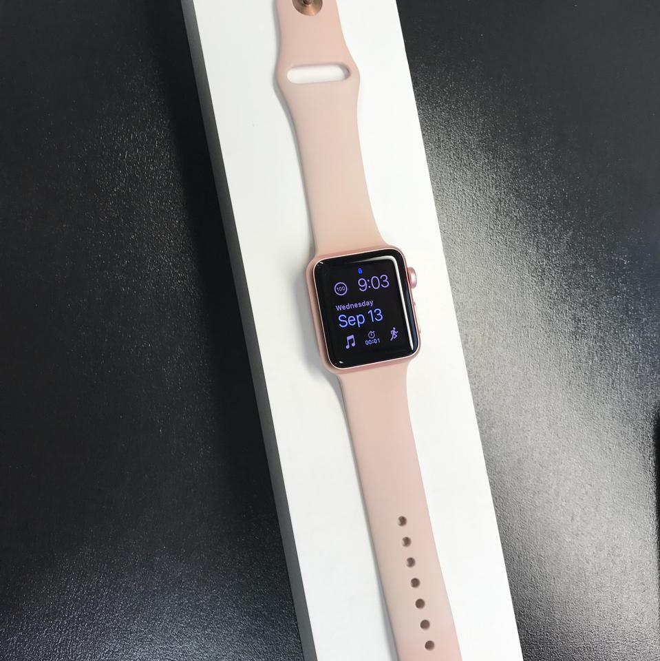 Apple Rose Gold With Pink Sport Band Series 1 38mm Smartwatch Watch Sereis Alumunium 42mm Black Aluminum Case