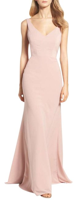 Item - Whipped Apricot Delaney Crepe De Chine Long Formal Dress Size 6 (S)