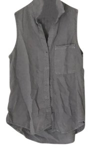 Bella Dahl Button Down Shirt grey
