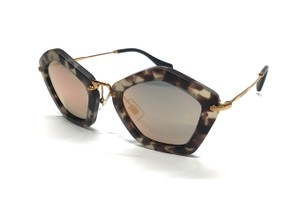 5984822e34 Miu Miu New Gold Mirrored Sunglasses SMU 06O UBB2D2 Free 3 Day Shipping