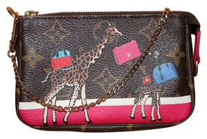 Preload https://item1.tradesy.com/images/louis-vuitton-pochette-2017-limited-edition-christmas-animation-mini-monog-brown-leather-wristlet-22079090-0-2.jpg?width=440&height=440