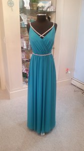 Carribean Chiffon 5623 Feminine Bridesmaid/Mob Dress Size 10 (M)