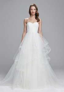Amsale Ivory Lace/Tulle Auden Traditional Wedding Dress Size 6 (S)