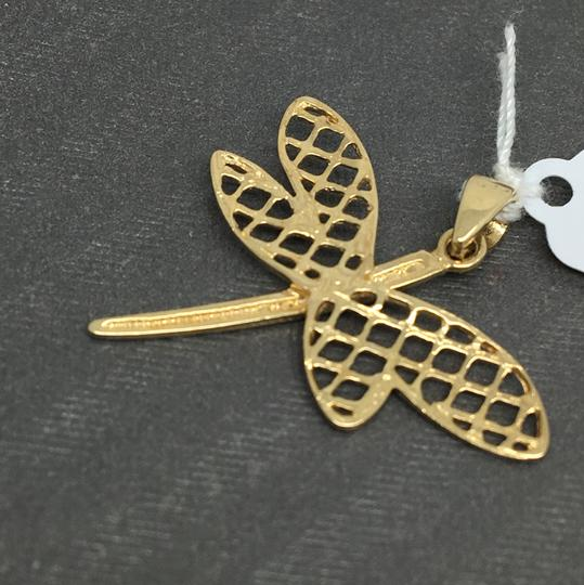 Other 14K Two-Tone Gold Diamond Cut Dragonfly Pendant Image 3