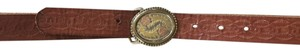 Madewell Embossed Leather Belt with Mixed Metal Buckle