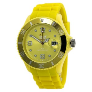 Ice SIYWBS09 Men's Yellow Plastic Band With Yellow Analog Dial Watch NWT