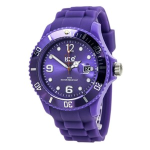 Ice SSLRBS11 Unisex Purple Plastic Band With Purple Analog Dial Watch