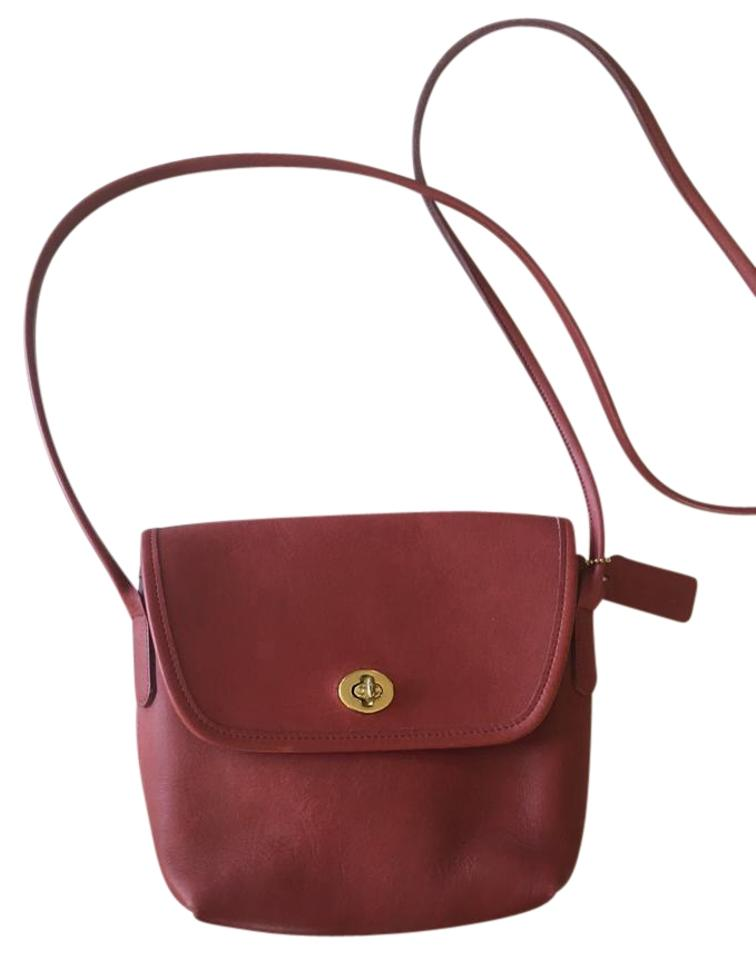 bffabddba7d6 Coach Quincy #9919 Red & Gold Leather Cross Body Bag - Tradesy