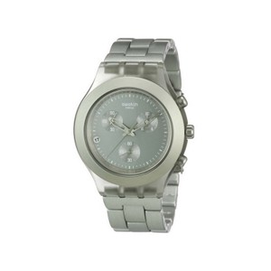 Swatch SVCG4000AG Men's Grey Steel Band With Grey Analog Dial Watch NWT