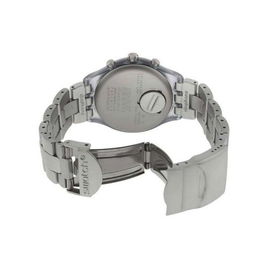 Swatch SVCG4000AG Men's Grey Steel Band With Grey Analog Dial Watch NWT Image 1