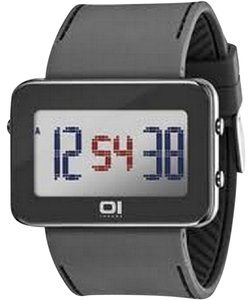 The One IPLD1118-3GY Unisex Grey Polyurethane Band With Grey Digital Dial