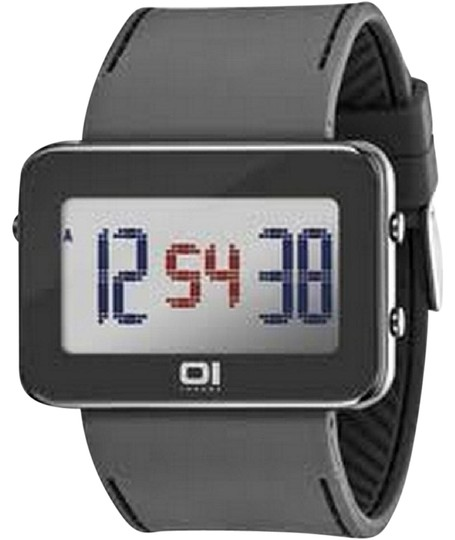 The One IPLD1118-3GY Unisex Grey Polyurethane Band With Grey Digital Dial Image 0