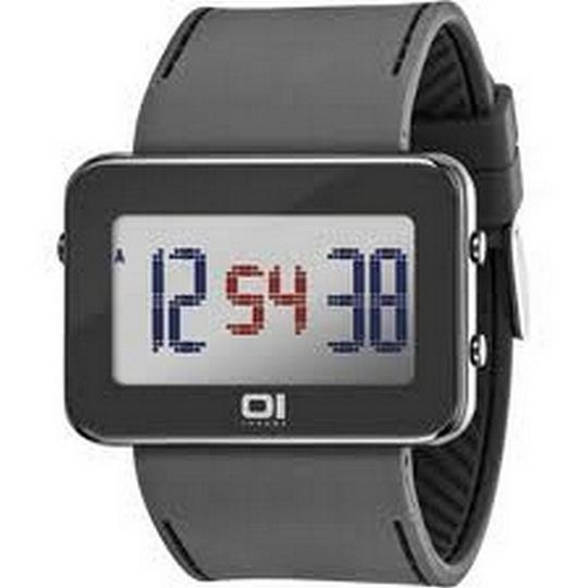 The One IPLD1118-3GY Unisex Grey Polyurethane Band With Grey Digital Dial Image 1