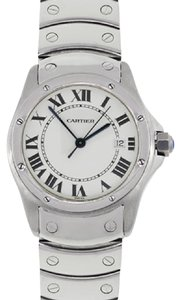 Cartier Cartier 1561 Santos Ronde White Dial Stainless Steel Watch