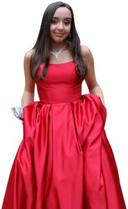 Betsy & Adam Ball Gown Strapless A-line Prom Dress