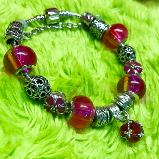 Genuine Murano Glass and Swarvoski Crystal Charm Bracelet Swarovski Image 1