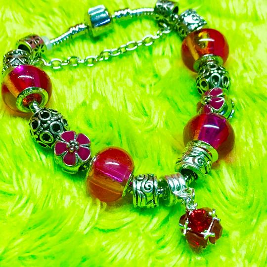 Genuine Murano Glass and Swarvoski Crystal Charm Bracelet Swarovski Image 2